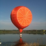 Orange in Sywell Reservoir
