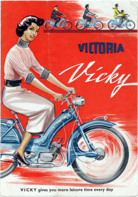 1955 Vicky English advert