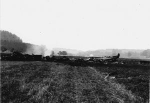 Halifax crashsite wreckage