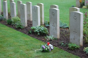 P Jenkinson Lancaster crew grave