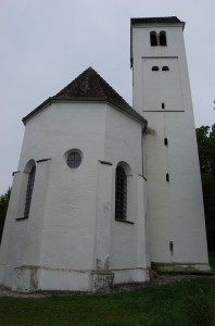 rebuilt church tower