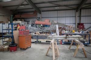 G-BYDL hurricane fuselage