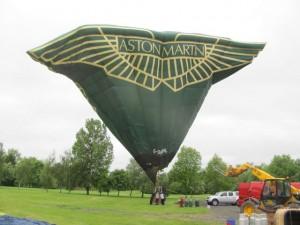G-OAML Aston Martin special shape balloon