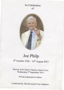 1 Joe Philp service