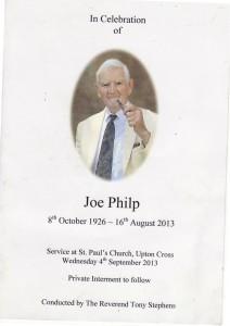 1 Joe Philp service