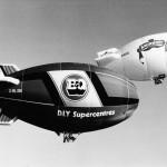 2 Smirnoff G-WZZZ B&Q airship G-BLSN