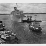 6 Coronia under tow southampton 1963