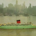 8 Caronia leaving New York