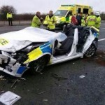 9 M4 Audi police crash
