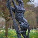 Hatfield Sculpture Leopard Climbing Tree Hamish Mackie