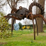 Hatfield Sculpture Wilfred Pritchard Giant Tarantula w Chris Jane