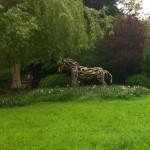 8 driftwood horse
