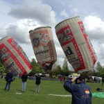 10 wobbly budweiser balloons