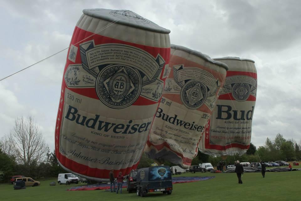 Budweiser balloons
