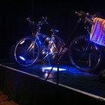 17 ropetackle bikes on stage