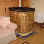 3 basket drying indoors