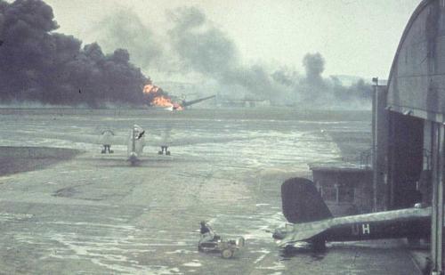 D Schwabisch Halle He177 bombed