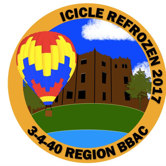 Icicle balloon pin 2017